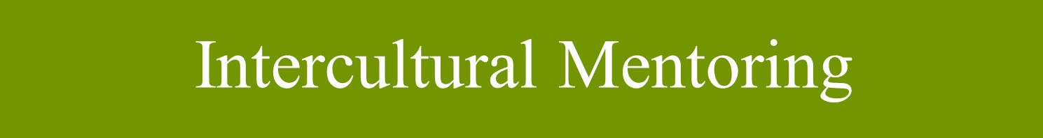 Intecultural Mentoring