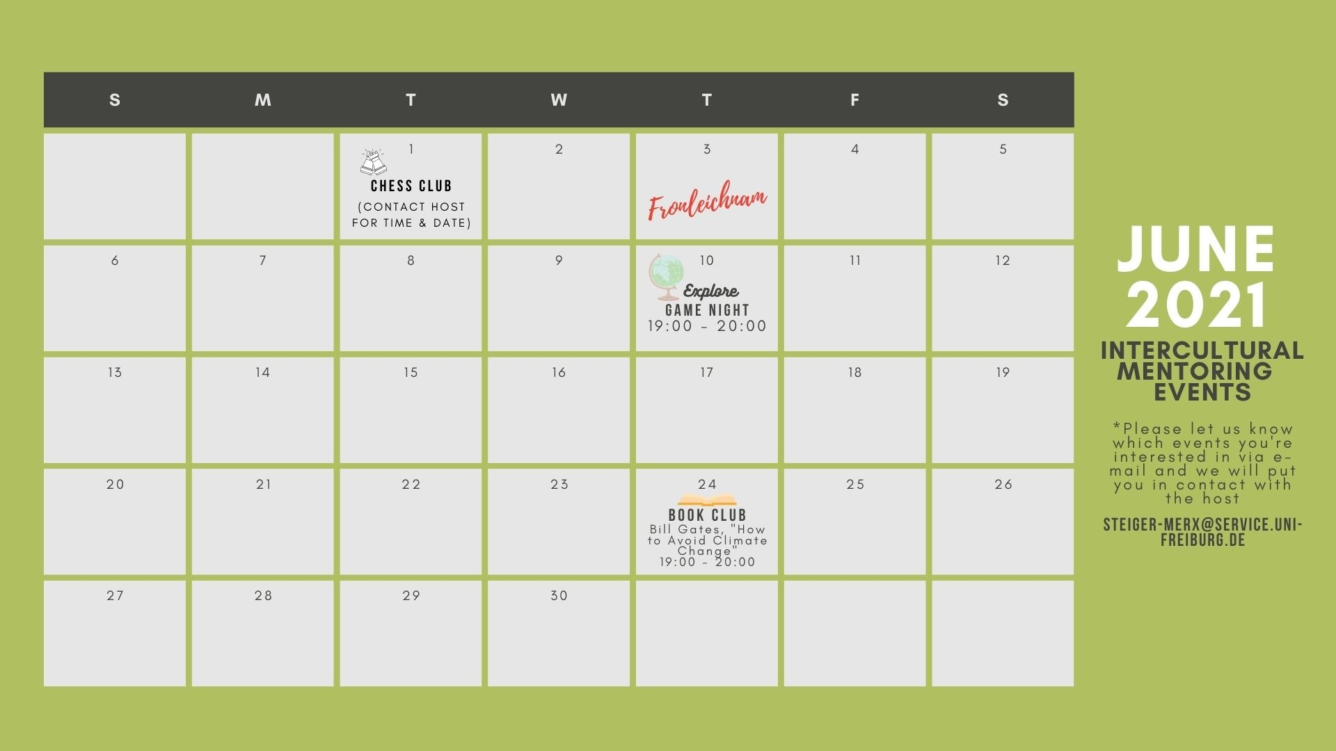 ICM Calendar June